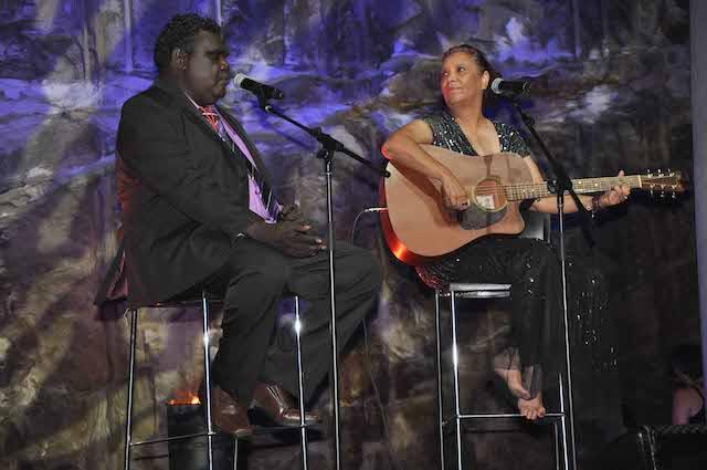 Djakapurra Munyarryun and Shellie Morris