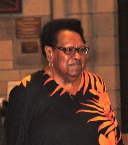 Torres Strait Island Elder Aunty McRose Elu celebrated